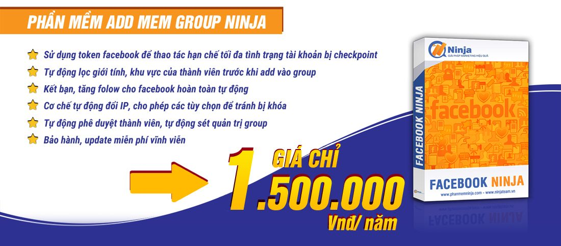 Phần mềm Ninja Add Mem Group