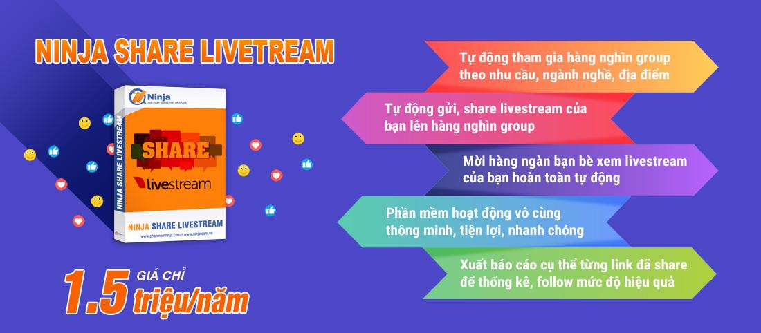 Phần mềm Ninja Share livestream