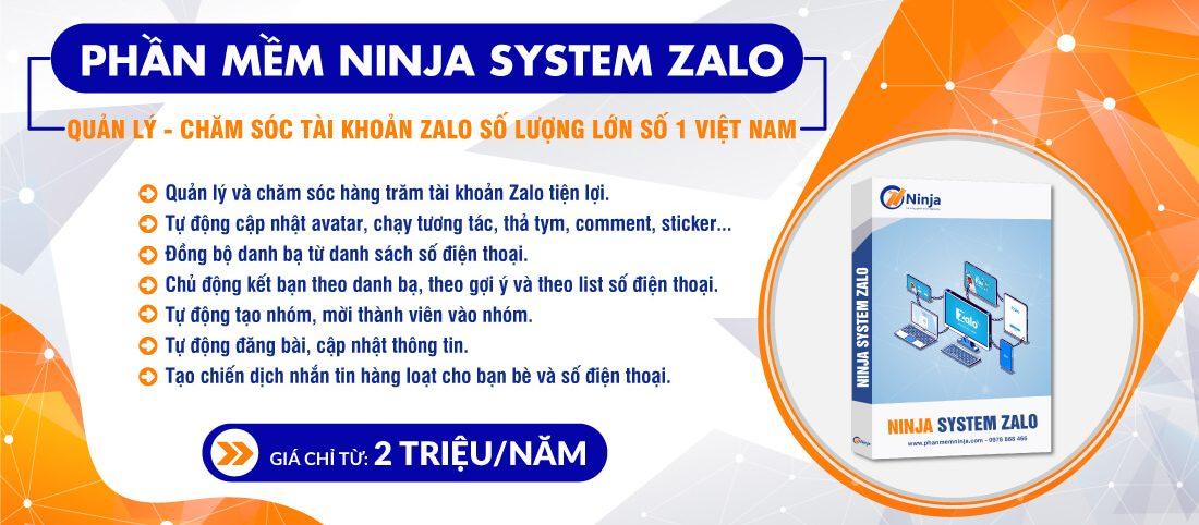Phần mềm Ninja System Zalo
